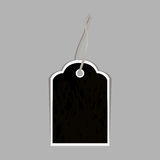 Black label isolated on a gray background. Vector illustration Royalty Free Stock Images
