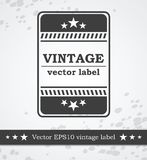 Black label with retro vintage styled design Royalty Free Stock Photography