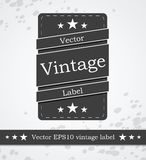 Black label with retro vintage styled design. This is file of EPS10 format Royalty Free Stock Photography