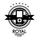 Black label royal quality music stamp Stock Image