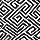 Black labyrinth seamless pattern Stock Images