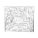 Black labyrinth on white background, stock illustration