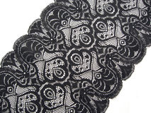Black lace. On white background Royalty Free Stock Photos