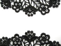 Black lace. On white background Royalty Free Stock Image