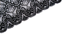 Black lace. On white background Royalty Free Stock Photography