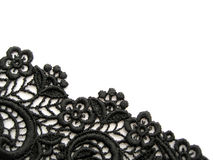 Black lace. On white background Royalty Free Stock Images