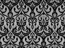 Black lace. Illustration of black lace on a white background stock images