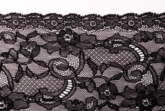 Black lace Stock Photos