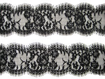 Black lace. On white background Stock Photography