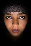 Black lace for African woman Stock Image