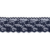 Black lace band. Black floral lace band garter isolated over a white background Stock Images