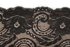 Black lace and beige pattern Stock Photography