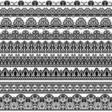 Black Lace Borders Stock Images