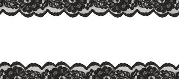 Black lace borders Royalty Free Stock Photography