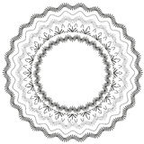 Black lace circle vector background Stock Images