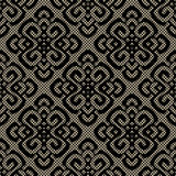 Black lace damask pattern Stock Images