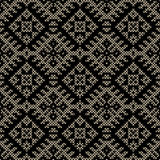 Black lace damask pattern Royalty Free Stock Image