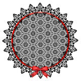 Black lace doily Stock Images