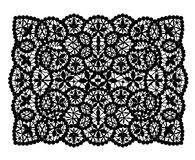 Black lace doily Royalty Free Stock Image