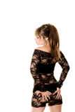 Black lace dress Stock Photography