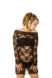 Black lace dress Stock Photo