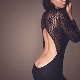 Black lace dress Royalty Free Stock Photography