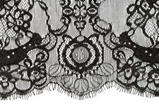Black lace edge Royalty Free Stock Photography
