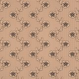 Black lace  fabric seamless pattern Stock Photos