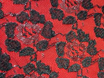 Black lace fabric Royalty Free Stock Image
