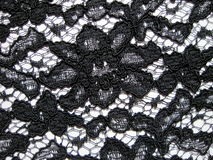 Black lace fabric royalty free stock images