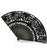 Black lace fan Stock Photos