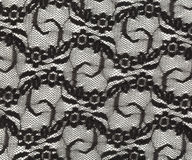 Black lace with a fine pattern Royalty Free Stock Photos