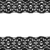 Black lace frame Stock Photos