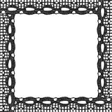 Black lace frame Royalty Free Stock Photography