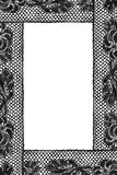 Black lace frame Royalty Free Stock Photos