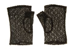 Black lace gloves. Stock Image