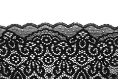 Black lace, isolate Royalty Free Stock Image