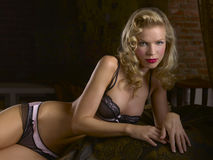 Black Lace Lingerie Royalty Free Stock Photography