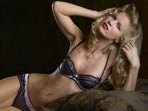 Black Lace Lingerie Royalty Free Stock Images