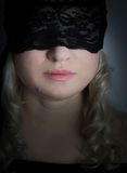 Black lace mask Royalty Free Stock Photo