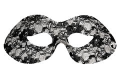 Black lace masquerade mask Stock Image
