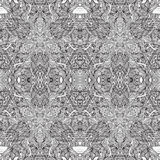 Black lace ornate fabric seamless lace pattern. Royalty Free Stock Photography