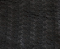 Black lace pattern fabric Stock Photo