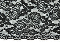 Black lace with pattern with form flower Royalty Free Stock Image