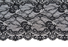 Black lace with pattern with form flower Royalty Free Stock Photos