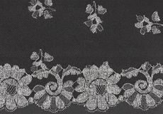 Black lace with pattern with form flower Stock Images