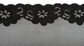 Black lace with pattern with form flower Royalty Free Stock Photo