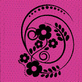Black lace on a pink background. Vector Stock Images