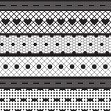 Black lace ribbons vector fabric seamless pattern Royalty Free Stock Photo