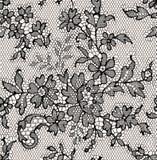 Black lace. Seamless Pattern. Stock Photos